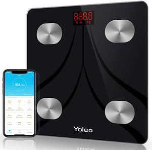Yoleo smart scale bathroom bluetooth weight scale with 13 Body Analyzer