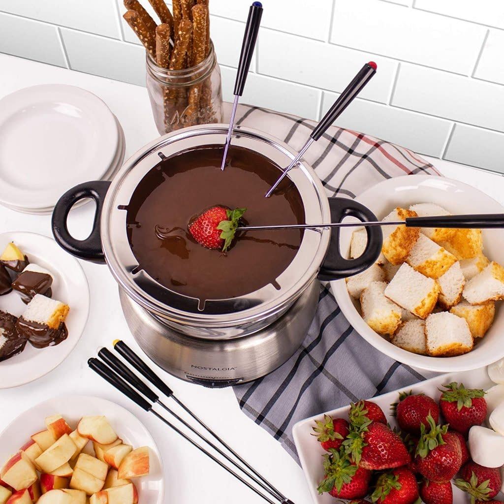 Nostalgia Stainless Steel Electric Fondue also used as Chinese hot pot