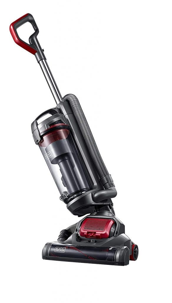 Side view of the light weight black and decker vacuum cleaner