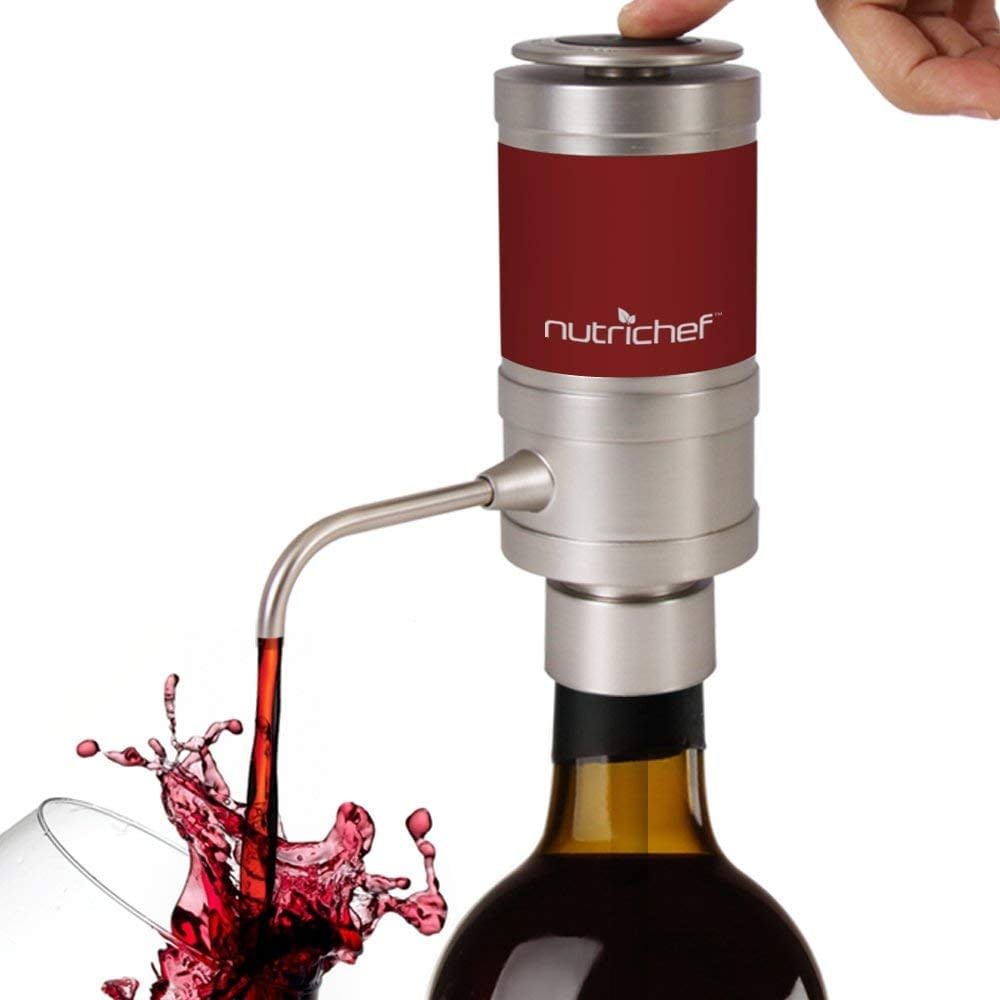 Electric wine aerator, wine pourer without removing cork dispenser