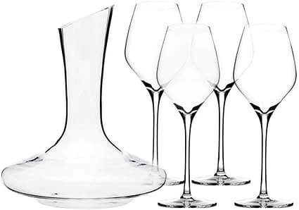 Wine set of Glasses with Decanter