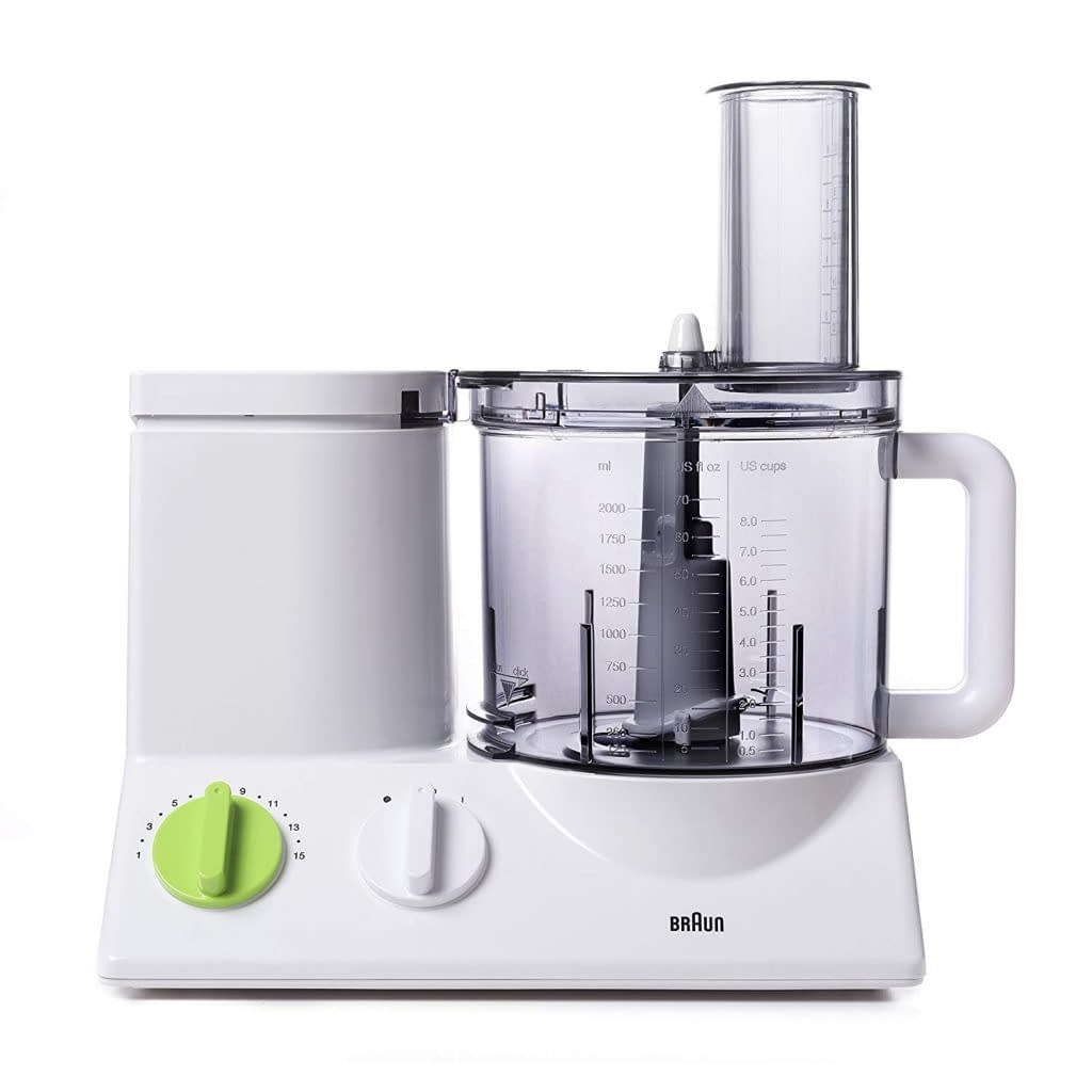 Braun Food Processor with coarse slicing blade, vegetable chopper machine