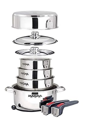 stainless stack-able pans
