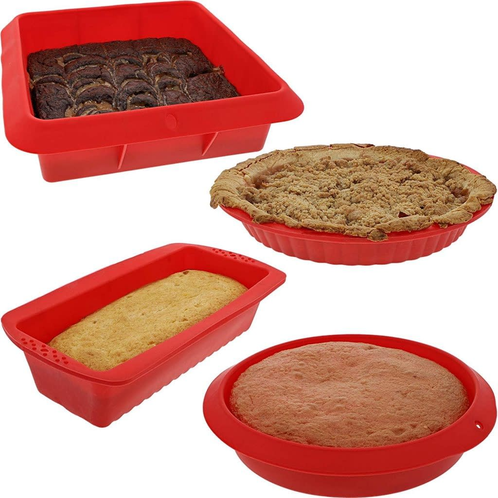 Non-stick Juvale Safe Bakeware 4 set of Silicone ovensafe