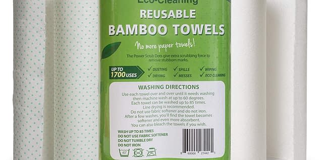 Bamboo reusable paper absorbent towels