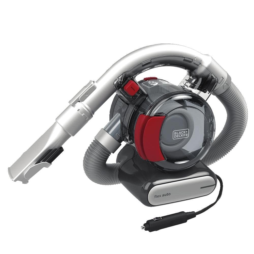Handheld vacuum cleaner with flexible hose