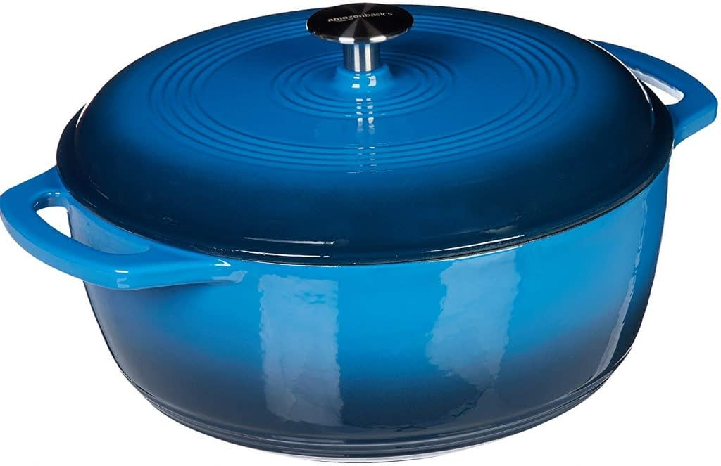Amazon Basics Enameled dutch oven  cast iron dish