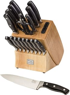 Chicago Cutlery Knife Block set with Knife Sharpener