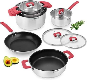 Rondell savvy best type of stainless steel cookware set, pots and pans to cook with