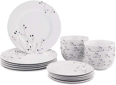 AmazonBasic 18 Piece Kitchen set without cups and saucers