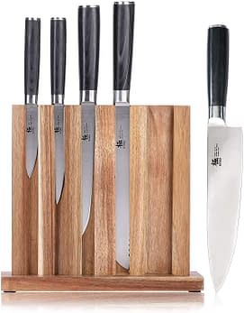Kyoku Chef Bread Knife and Carving Knife , Utility Knife and Paring Knife