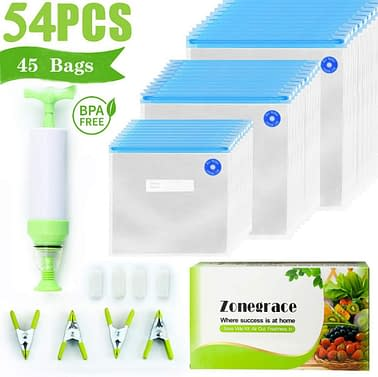 zonegrace storage bags for anova and joule cookers