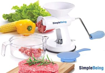 Simple Being Grinder for Dog food, Vegetable Garlic fruit with Powerful Suction Base