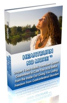 Heartburn fast relief book for acid reflux