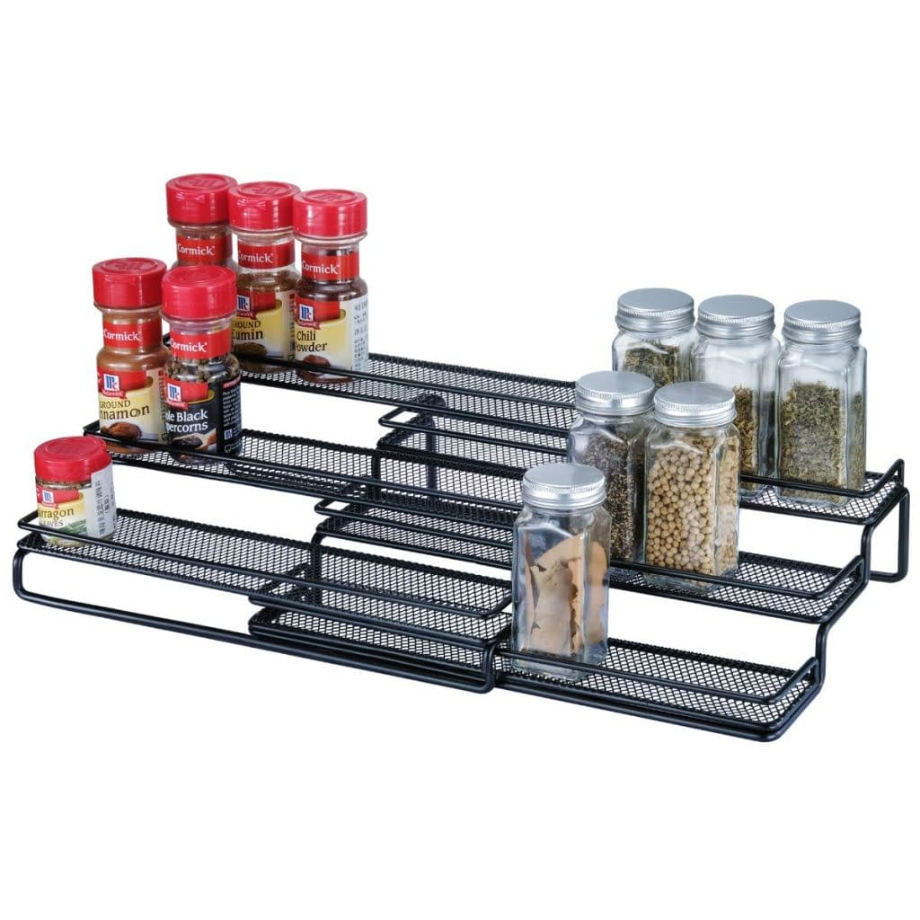 expandable cabinet spice rack organizer
