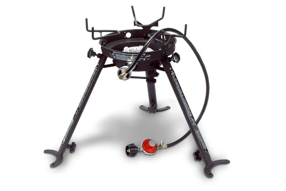 Picture of Outdoor portable pot and wok brackets with adjustable and removable legs