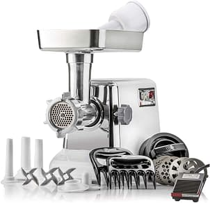 Turboforce Heavyduty Meat Grinder with Foot Pedal and Sausage Stuffer.