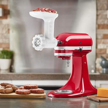 Antree KitchenAid Stand Mixer and Food Grinder, Meat Mincer with 4 Grind Plates.