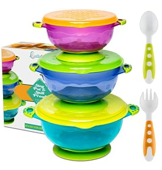 Baby feeding Bowl Set with Utensils