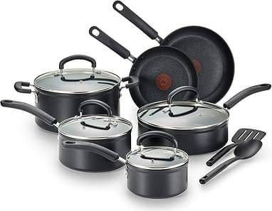 T-fal Titanium dishwasher safe pots and pans cookware sets for everyday use