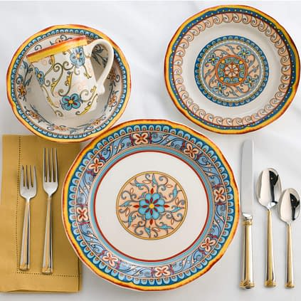 Flora design ceramic dinnerware sets