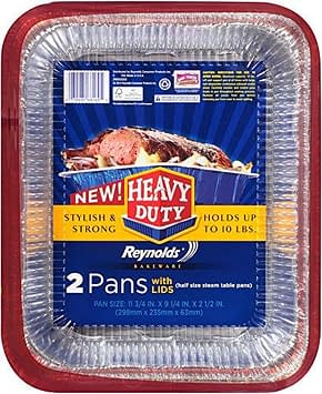 Heavy duty disposable duty roaster pan and dish with Lids