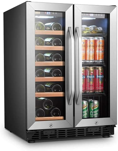Lanbo wine and beverage refrigerator best fridge for large family