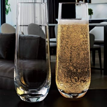 Stemless Champagne Glass set