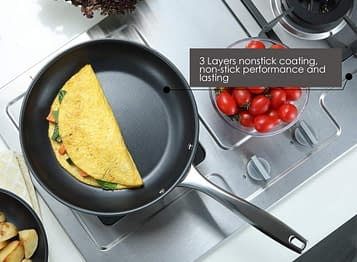 Multi layer base saute stainless steel pan