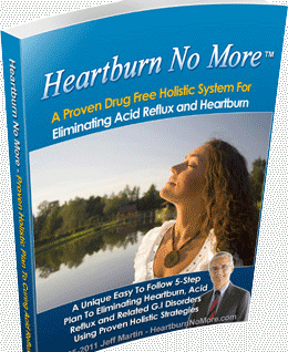 Best immediate relief for Heartburn Book by Medical Researcher and Nutritionist Jeff Martin