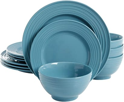 Turquoise Gibson Dinnerware set without cups