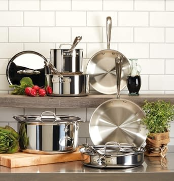 Tri-Ply All Clad Stainless steel Professional Grade 10 Piece Cookware set