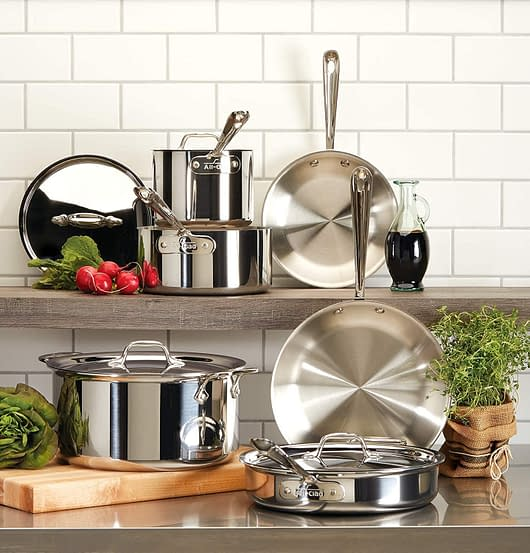 All clad ceramic Pots and Pans to cook with