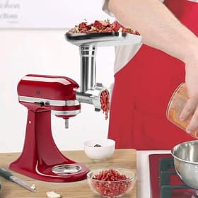 Metal Food Durable Grinder with Attachments, Stand Mixers and sausage stuffer tubes.