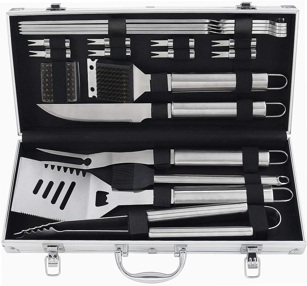 Poligio Barbecue Grill Utensil kit as gift for weddings or men