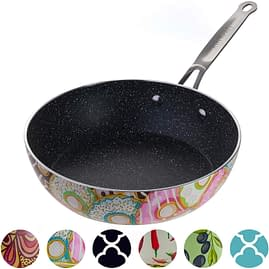 Decorative deep skillet induction ready
