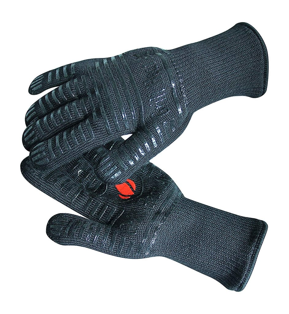 Grill heat insulated glove for cooking, grilling, frying and baking