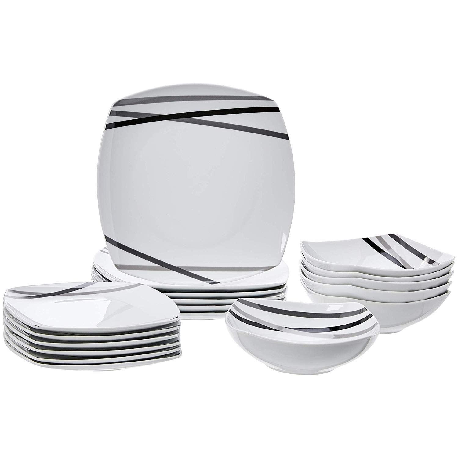 Best AmazonBasics Dinnerware sets that can be used everyday, including dishes and bowls